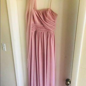 Alfred Angelo formal long blush dress